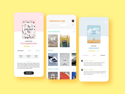 E Book Mobile App mobile app figma bookstore library ui design book ebook app ui app ux ui