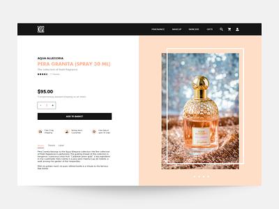 Web Design For a Cosmetics Brand design adobe xd designer webdesign cartoon illustration ecommerce design uiux ui perfume