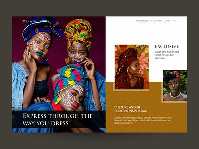 Fashion Brand Web Design visual design fashion brand grid clthing fashion branding ux ui design