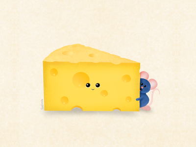 Say Cheeseee texture brushes procreate illustrations ratatouille cheese digitalart