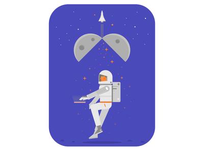 Astronaut suprise