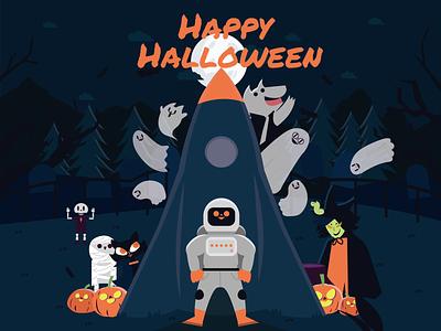 Happy Halloween !! graphic arts graphic illustration art graphic art flat illustrator illustration graphic  design design vector