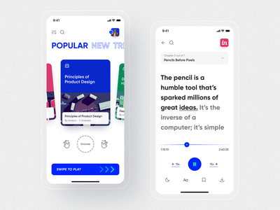 AudioBook Transcript App 🔥 transcript audiobook inspiration mobile ui design ui uiux typography ios mobile app mobile ui app design app ui app ux ui design ios app figma