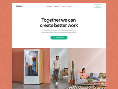 DeskClub - Coworking Space Website figmadesign figma website template website concept web mockup uiux web ui design homepage design workspace homepage ui deisgn coworking space coworking website web design website design landing page ux typography ui