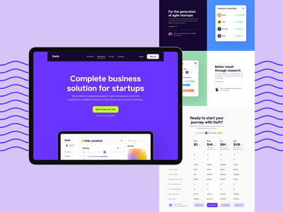 Daft - SaaS Website ui  ux ux design dashboard pricing saas design saas landing page saas website saas website concept homepage design website web design ui design landing page design figma landing page website design ux typography ui