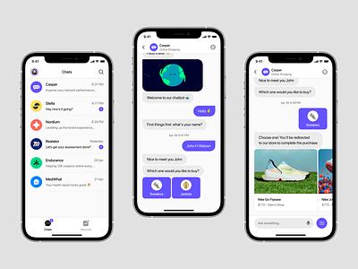 Comet - Interactive Chatbot App (Light Version) comet interactive chatbot chatbot chatbot app ios design app design ios app app ui ios app design app ui design mobile ui ui design figma ux typography ui