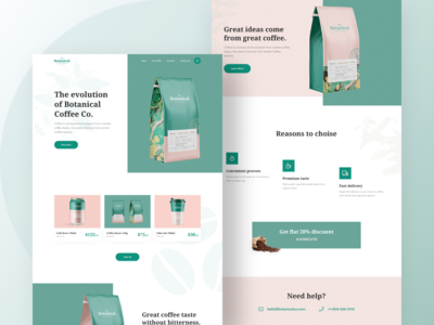 Botanical Coffee Co Landing Page #1