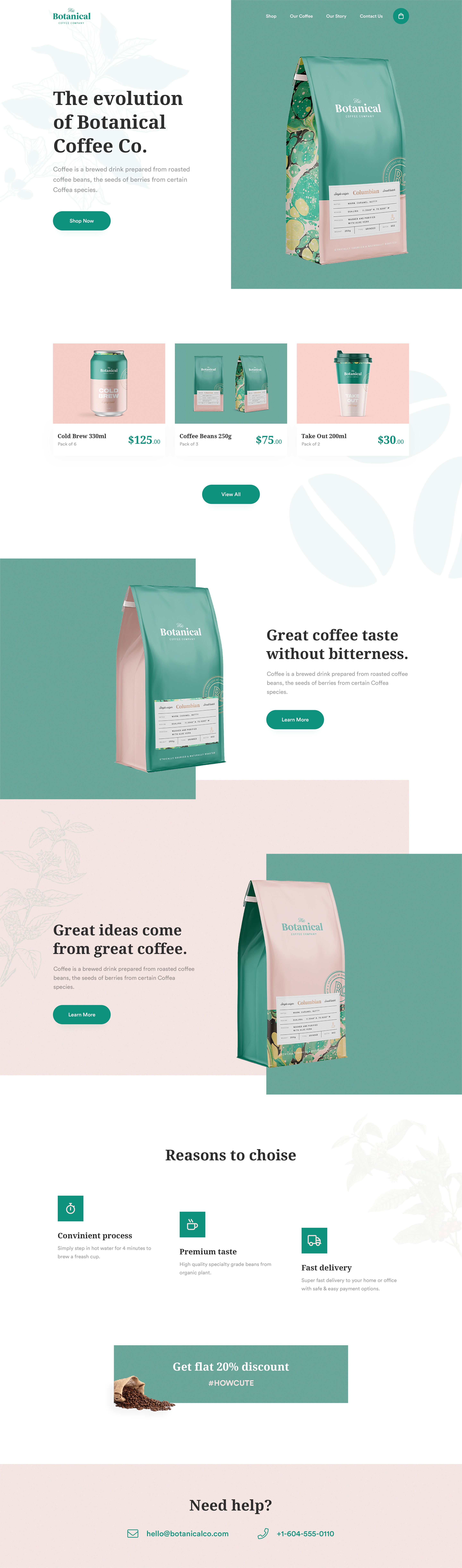 Product landing page 1