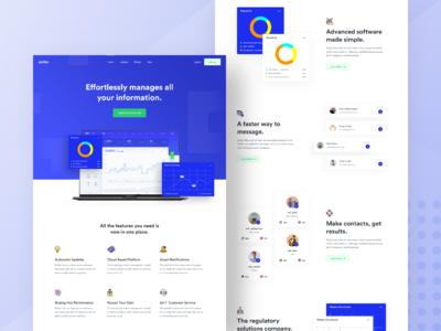 SaaS Landing Page Design #2