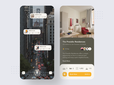 Apartment Finder AR App design typography apartment rent apartment finder augmentedreality augmented reality ar app ui user interface mobile ui app design ios app ios mobile app design mobile app mobile