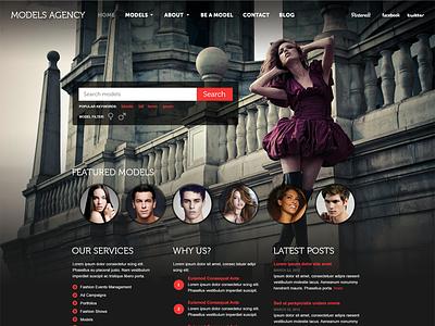 Model Agency Theme website models agency theme modeling web layout