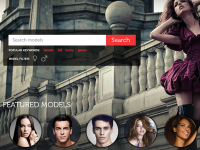 Model Agency Theme close-up agency layout theme website web models modeling