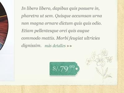 Product description tag price wood paper texture peru lima