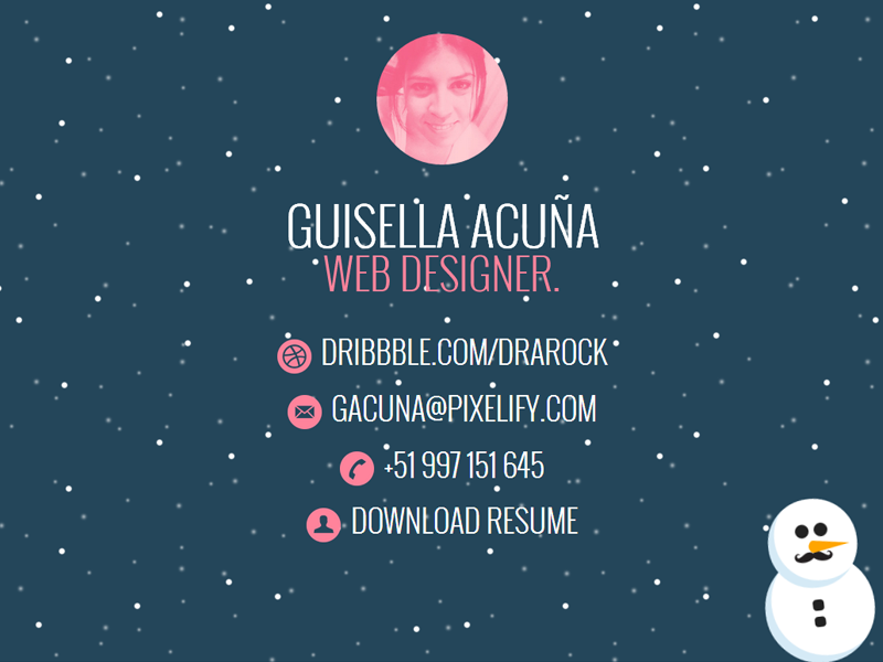 Splash page snow holiday snowman website landing page splash page one page coming soon peru