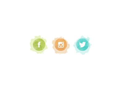 Social icons icons social watercolor peru