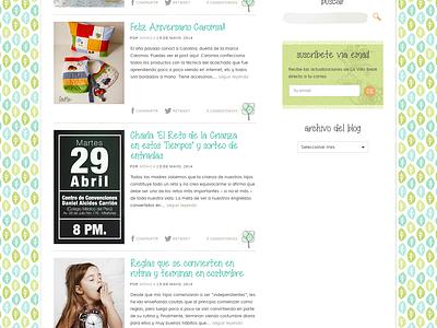 La Villa Bebé blog website web design kids family posts full site watercolor fun wordpress theme peru