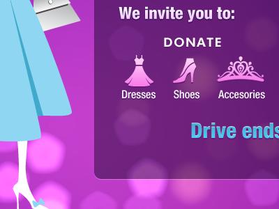Donate donate girl purple dress icons bokeh website lima eru