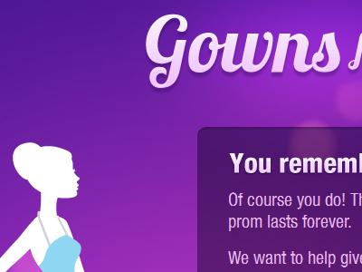 Gowns For Girls logo typography girl purple website eru lima