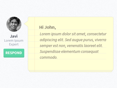 Note note notepad bubble speech testimonial interface ui website paper texture user avatar