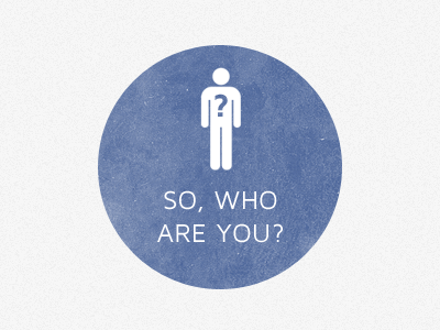 So, who are you? circle man typography shape peru a