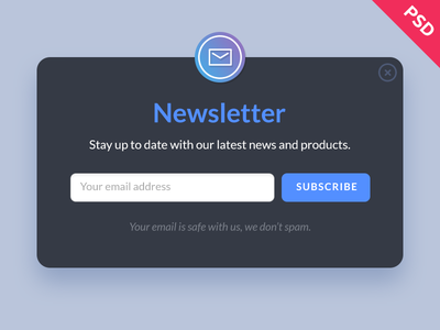 Free Newsletter Form PSD email psd free freebie app interface ui form newsletter