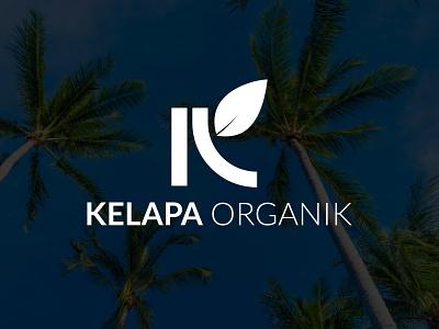 Brand Logo Kelapa Organik desainlogo riau kelapa branding logo coconut