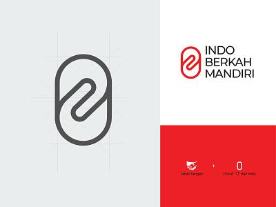 Logo for Indo Berkah Mandiri Co desainlogo teamwork illustration design logo branding