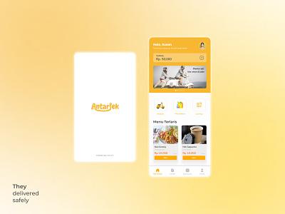 Antarjek UI Design desainlogo logo design ux app ui