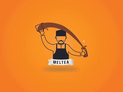 Branding Meltea illustration logo design branding