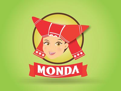 Branding Monda vector logo design illustration branding