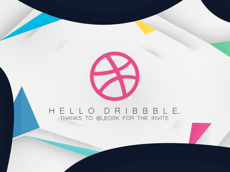 Hello Dribbble. minimal abstract design dribbble first dribbble debut