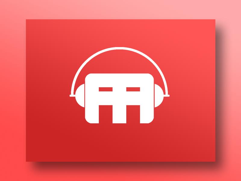 The AA Meeting Logo headphones logo letter logo concept logo logo