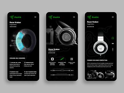 Razer Kraken Forged Edition uidesign uiux design graphicdesign figma uiux ux app branding ui design
