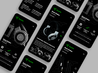 Razer Kraken Forged Edition uiuxdesign uiux graphicdesign prototype figmadesign figma minimal ux app design ui