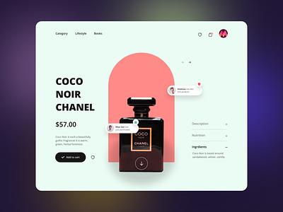 E-Commerce Landing Page apps product perfume noir branding ecommerce landing page design business illustration ux ui interaction web ui