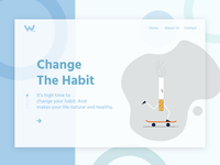 Landing page- Change The Habit