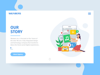 Landing page- Our Story