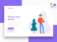 Choose your drinks- Landing page.
