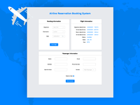 Airline Reservation Booking System UI