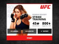 UFC Training Fitness Card