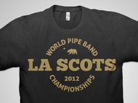 LA Scots World Pipe Band Championships Tee