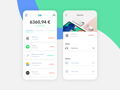 Banco App  - Transactions product graphicdesign ux mobile userinterface appdesign ui design