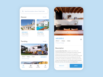Real Estate App investment exchange rate mortgage buy rental house clean design clean ui housing realestate product appdesign mobile userinterface ux ui