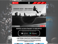 Skateboarding Video Streaming Website