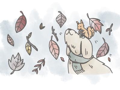 Autumn illustration for Ratujemy Zwierzaki