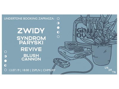 Gig flyer for Zwidy