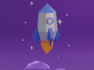 Rocket 3D illustration minimal illustrator animation ux illustration design colorful 3d