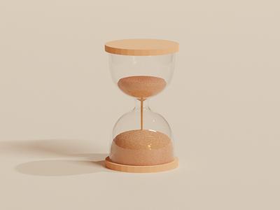 Hourglass 3D illustration art minimal logo ui app icon illustration design illustrator 3d