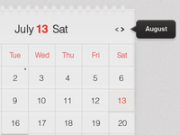 Light Calendar UI