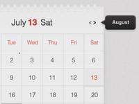 Light Calendar UI